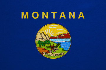 Flag of Montana real detailed fabric texture