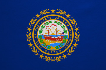 Flag of New Hampshire real detailed fabric texture