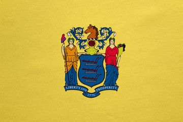 Flag of New Jersey real detailed fabric texture