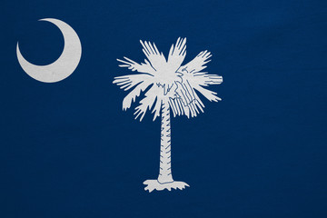 Flag of South Carolina detailed fabric texture