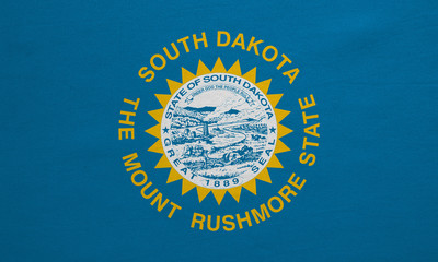 Flag of South Dakota real detailed fabric texture