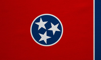 Flag of Tennessee real detailed fabric texture