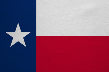 Flag of Texas real detailed fabric texture