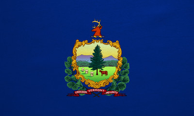 Flag of Vermont real detailed fabric texture