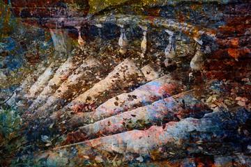 In de dag Fantasie Landschap fantastic staircase, bright multicolored abstract art background