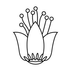 beautiful green flower icon. vector illustration