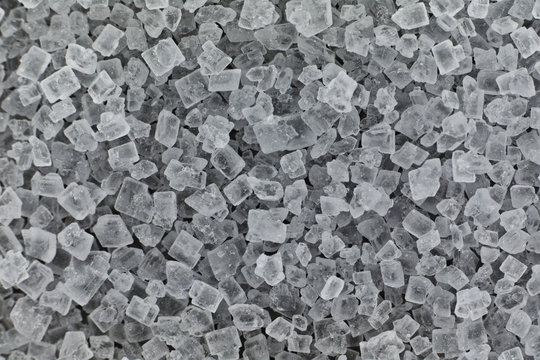 Background texture of sugar crystals close up