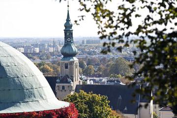 Fototapete - Pfarrkirche Baden bei Wien, Kirchturm
