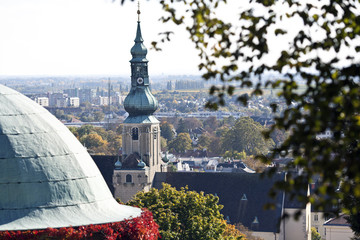 Fotomurales - Pfarrkirche Baden bei Wien, Kirchturm