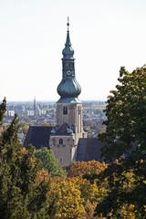 Wall Mural - Pfarrkirche Baden bei Wien, Kirchturm