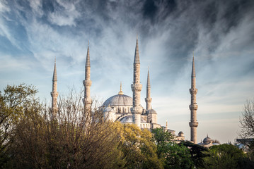 The Blue Mosque, Istanbul, Turkey. Sultanahmet Camii is one of the major attractions of the city.