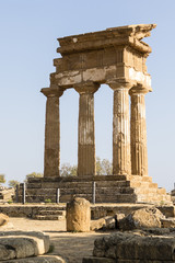 Temple of Castor and Pollux - Valle dei Templi (Temple Valley) in Agrigento, Sicily, Italy.