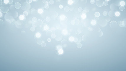 Abstract background with bokeh effect in light blue
