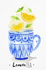 Lamas personalizadas para cocina con tu foto Teacup lemon tea