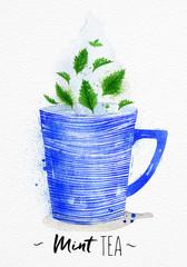 Teacup mint tea