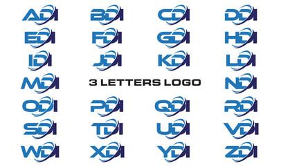 3 letters modern generic swoosh logo ADI, BDI, CDI, DDI, EDI, FDI, GDI, HDI,IDI, JDI, KDI, LDI, MDI, NDI, ODI, PDI, QDI, RDI, SDI, TDI, UDI, VDI, WDI, XDI, YDI, ZDI
