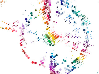 Vibrant Circle Composition