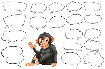 Monkey and different types of bubble speeches