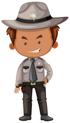 Sheriff in gray uniform
