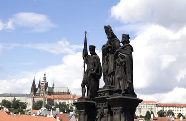 statue of Charles Bridge in Prague, Czech Republic