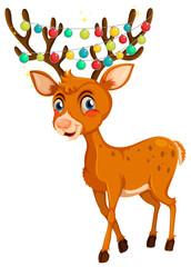 Christmas theme with reindeer and lights