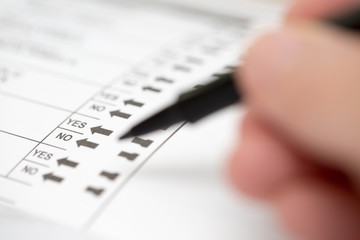 Casting a Vote on an Election Ballot