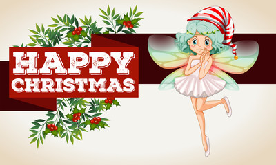 Christmas theme with fairy flying