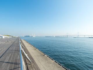 横浜大桟橋の屋上デッキ
