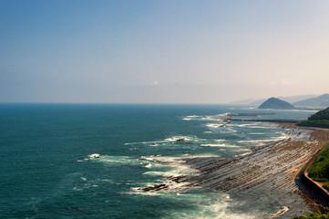 太平洋と鬼の洗濯岩