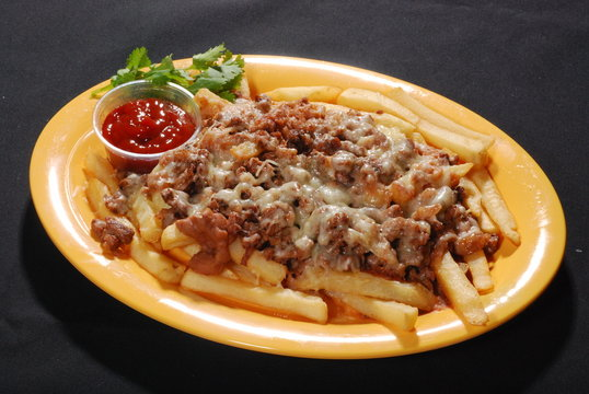 Carne asada fries with cheese