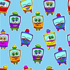 Kids trams pattern