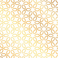 Golden flower pattern background. Flower pattern