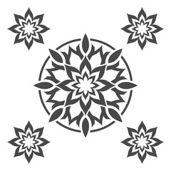 Abstract flower.Ornament Pattern.Decorative element.