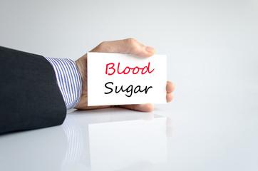 Blood sugar text concept