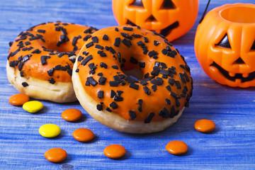 Pumpkin donuts for Halloween