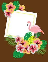 vector flamingo background