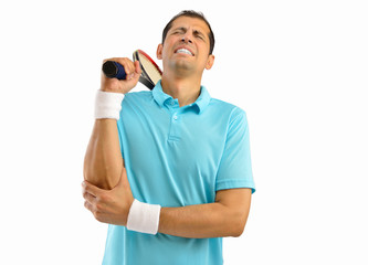 injured tennis sportsman