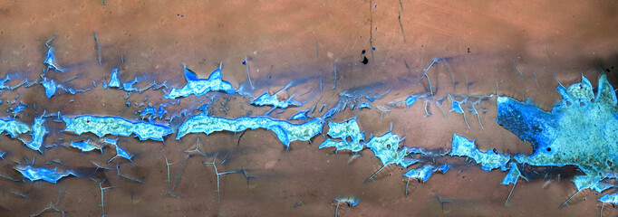 panorama rust and erosion of metal surface Wall mural