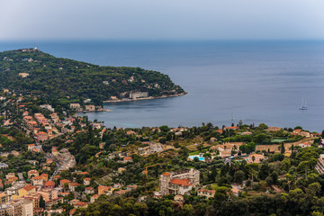 Nice, France: panoramic top view of surrounding hills