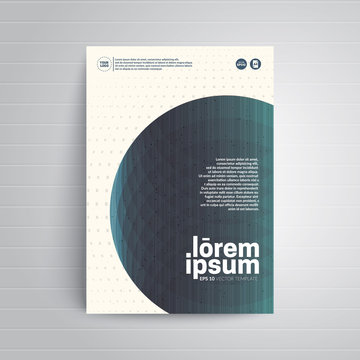 Abstract circle with layers multiply. Cover design for brochure,booklet,flyer etc. A4 format template. Eps10 Vector illustration.