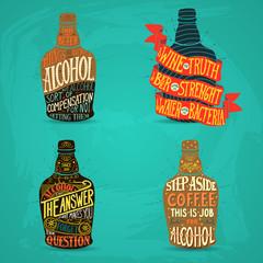 illustration for design of alcohol drink