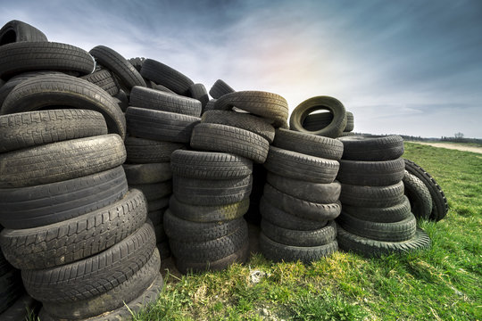 Tires Heap - Used Tyres on Meadow