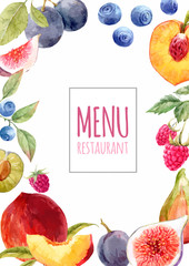 watercolor menu template