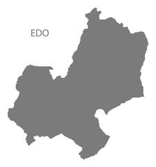 Edo Nigeria Map grey