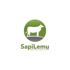 cow farm concept logo icon