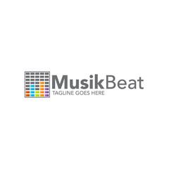 music concept logo icon vector template