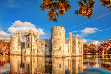 Fotobehang Kasteel Historic Bodiam Castle in East Sussex, England