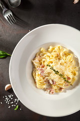 Fettuccine Carbonara with Parmesan