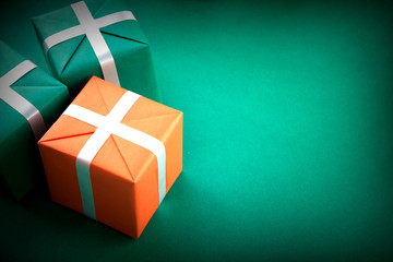 Christmas  box  with copy space