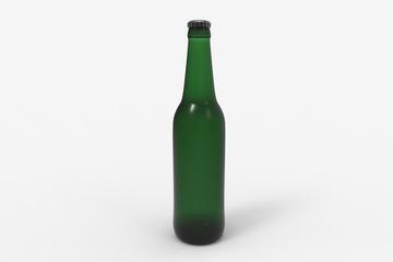 Beer bottle on background.